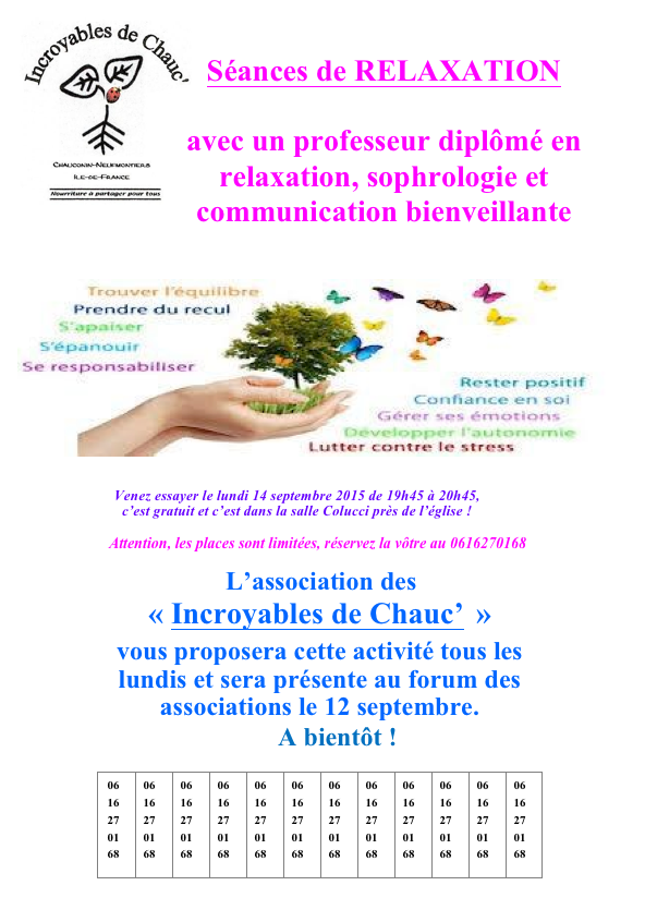 sophrologie relaxation Coulommiers septembre 2015